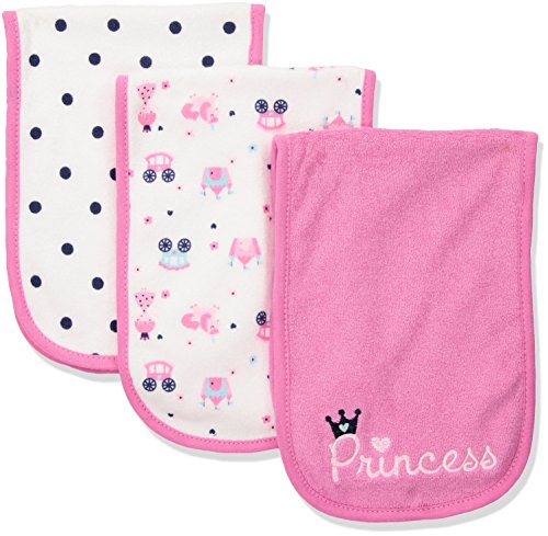 Gerber Baby Girls 3 Pack Terry Burp Cloths Razy Aquaq